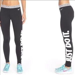 Nike Pro Just Do It Black Leggings